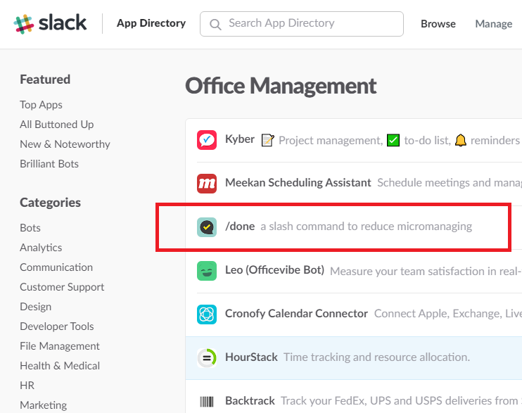 the 3rd Most Popular Office Management App on Slack